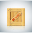 wirebound square wooden container vector image vector image