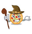 witch margherita pizza isolated with cartoons vector image vector image