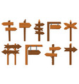 wood direction signs wooden arrow signboard vector image