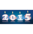 Burning candles 2015 vector image