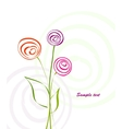 background with abstract flowers vector image