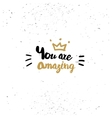 You are amazing quote vector image