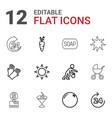 12 orange icons vector image vector image