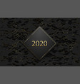 2020 luxury banner golden text on black rhombus vector image