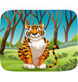 a tiger in the forest vector image vector image
