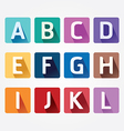 Alphabet colorful Font with Sahdow Style vector image vector image