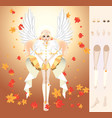 angel of fall angel of fall vector image