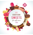 Background for sweets company logo vector image