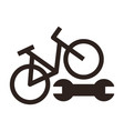 bike repair icon vector image vector image