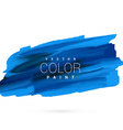 blue hand paint stain design vector image vector image