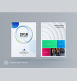 brochure design paper-cut template colourful vector image
