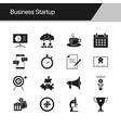 business startup icons design for presentation vector image vector image