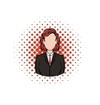 Business woman comics icon vector image vector image