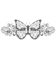 butterfly with beautiful filigree floral vector image vector image