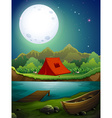 Camping ground vector image vector image