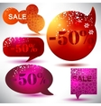 christmas sale glossy bubbles vector image vector image