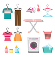 Cleaning Laundry Icons Set vector image