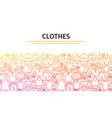 clothes outline concept vector image