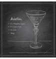 coctail aviation on black board vector image vector image