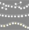 colorless festive garlands set decorations stars vector image vector image