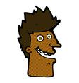 comic cartoon happy man face vector image vector image