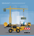 construction vehicles on site vector image vector image