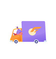 delivery courier cargo van vehicle shipping vector image vector image