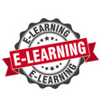 E-learning stamp sign seal vector image
