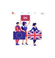 european union flag concept vector image vector image