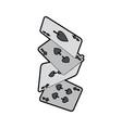falling poker cards spade casino vector image vector image