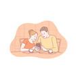 family communication addiction social media vector image vector image