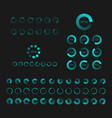 futuristic progress loading bar set of indicators vector image vector image