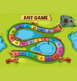 game template with ant colony in background vector image vector image