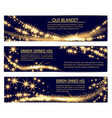 golden glittering magic sparkle stardust banners vector image vector image
