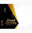 grand opening golden banner with text space vector image vector image