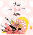 hand drawn abstract floral collage with to vector image vector image