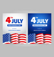 happy independence day 4 th july usa vector image vector image