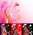 heart vines vector image vector image