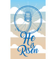 jesus catholicism religion card vector image vector image