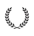 laurel wreath - symbol victory and power flat vector image vector image