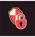 lock shield protection vector image