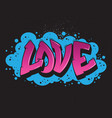 love graffiti style graphic vector image vector image