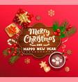 merry christmas and new year wishing card vector image