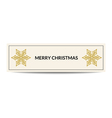 Merry Christmas banner with golden snowflake vector image vector image