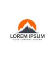 mountain logo design concept template vector image vector image