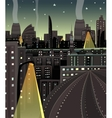 Night cityscape cartoon vector | Price: 1 Credit (USD $1)