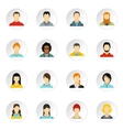 People icons set flat style vector image
