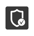 quality control icon with shield sign vector image