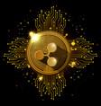 ripple mining set icons vector image