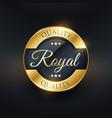 royal quality golden label design vector image vector image